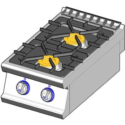 2 burners on top