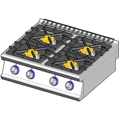 4 burners