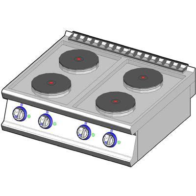 4 electrc hotplates